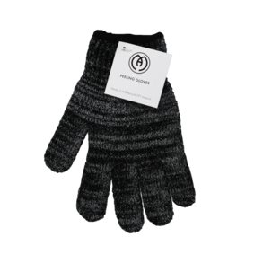 Exfoliating Gloves (1 pair, Black)
